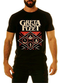 Camiseta Greta Van Fleet Lollapalooza 2019 Brasil