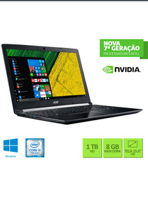 Notebook Acer Para Jogos/edicao De Video