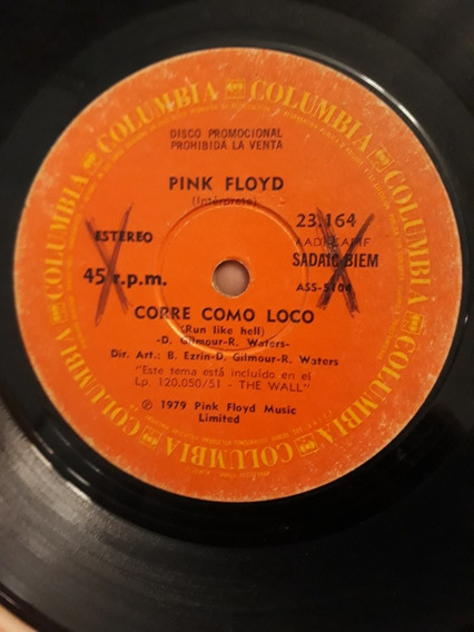 Pink Floyd Vinilo Simple Del Disco The Wall