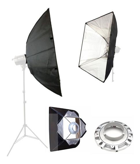 Softbox Para Flash E Tocha De Estúdio 60x60cm Sb-ubw 60x60cm