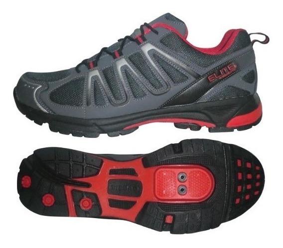 Zapato Elite Montaña Tb22-b1285 Gris/plata/rojo