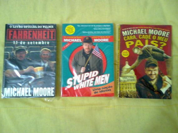 3 Livros Do Michael Moore - Excelente Estado
