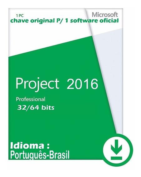 Key Project2016 Pro Oem Orignal Ativação Online 32/64bits