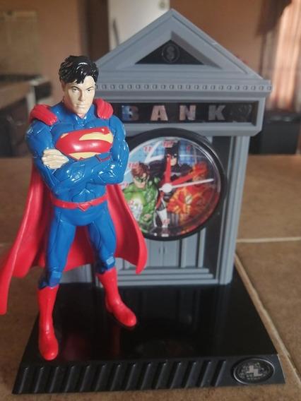 Liga De La Justicia Superman Reloj Despertador Alcancia