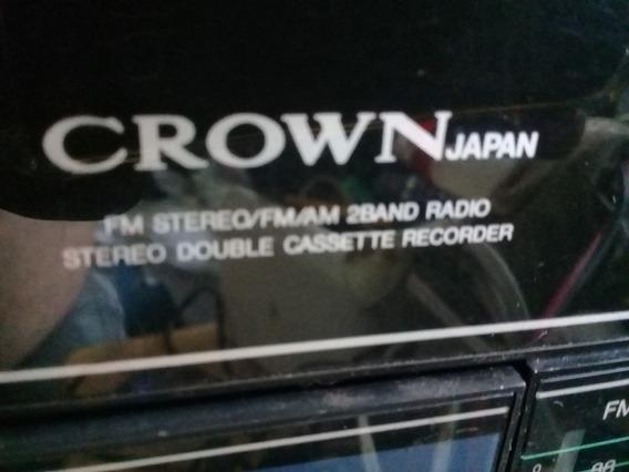Rádio Gravador Portátil Crow P-805 Fabricado No Japão