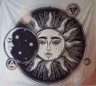 Diseño/textil/yoga/sol/luna/cubrecama/decoración/pareo