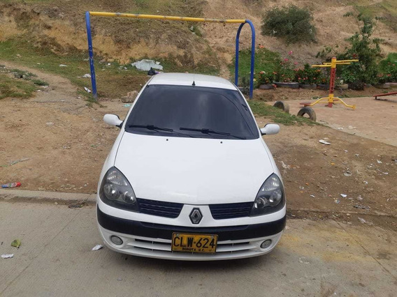 Renault Clio Dynamique Fase Motor 1.4 2004 Blanco 5 Puertas