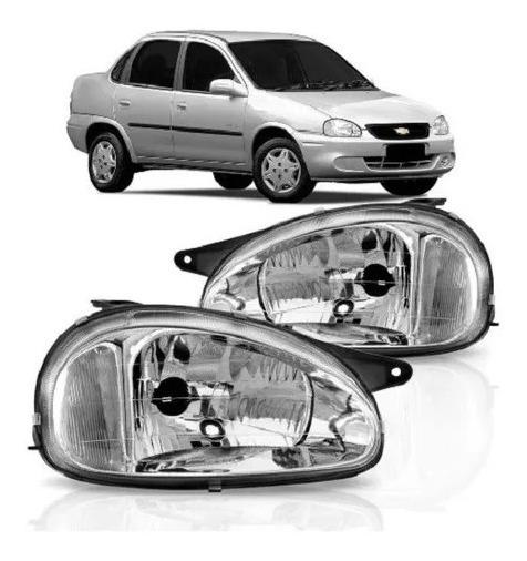Par Farol Corsa Pick-up Wind Sedan Classic Wagon 94 95 96 97 98 99 2000 2001 2002 2003 Pisca Cristal