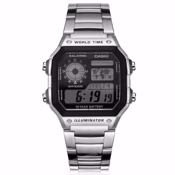 Reloj Casio De Lujo Elegante World Time