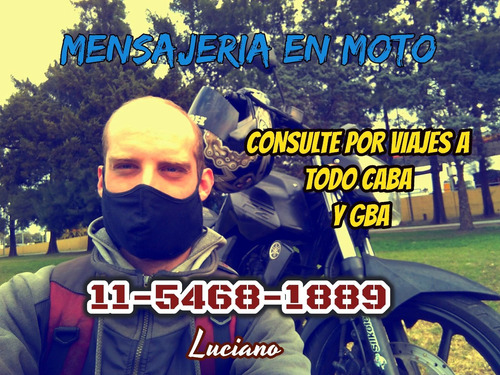 Imagen 1 de 5 de Moto Mensajería San Martin Zona Norte Caba Envios Flex
