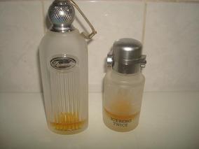 Lote C/ 2 Frascos De Vidro Perfume Masculino Importado