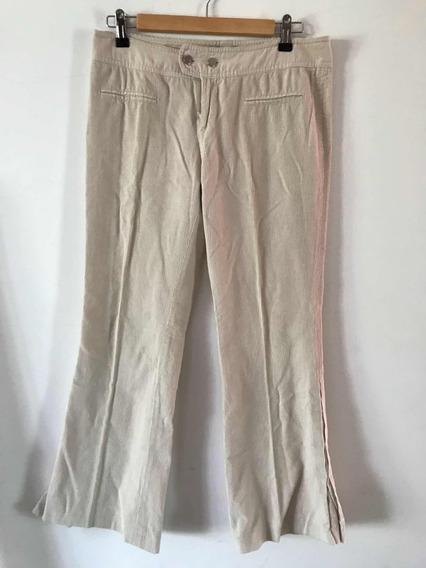 Pantalón De Corderoy Fino Jazmin Chebar. Usado