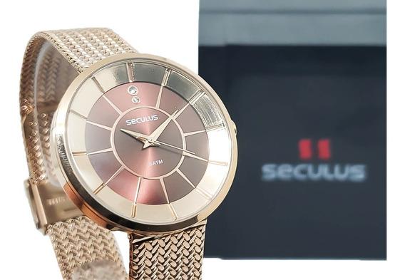 Relógio Feminino Seculus 23681lpsvrs1 Garantia 2 Anos