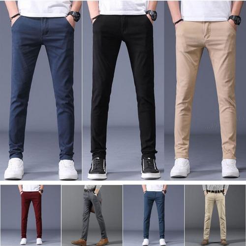 Pantalones De Drill Strech Semipitillo Slim Fit De Hombre Mercado Libre