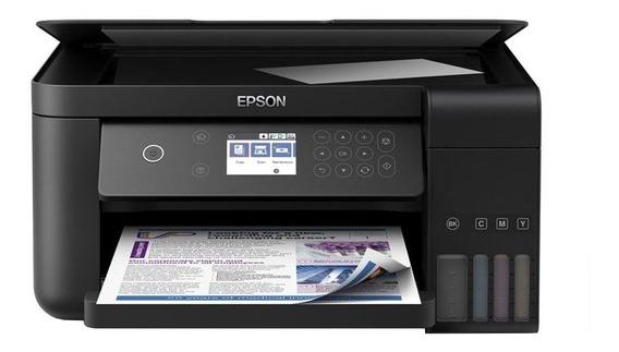 Impressora a cor multifuncional Epson EcoTank L6161 com Wi-Fi 110V preta