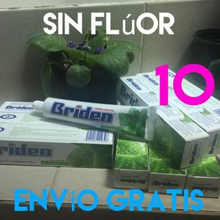 10 Briden Pastas Dentalessin Fluor, Sabor Menta Envío Gratis