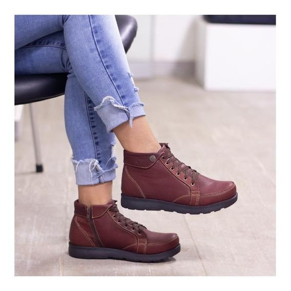 Botines Cuero Dama, Zapatos Cuero Maribu Shoes - Mod #512