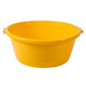 Bacia De Plástico Com Alças 25l Bac25 Astra Amarelo Dj