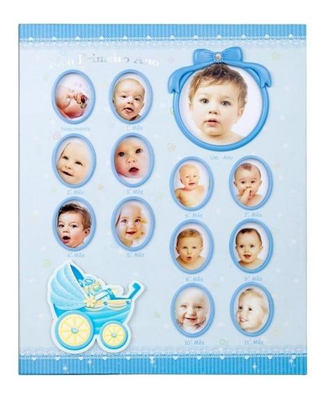 Álbum Bebê 15x21 Para 100 Fotos - Meu 1º Aninho C/ Histórico