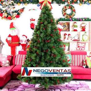 Arbol De Navidad Frondoso 2.40mts Aguja De Pino Modelo 2018