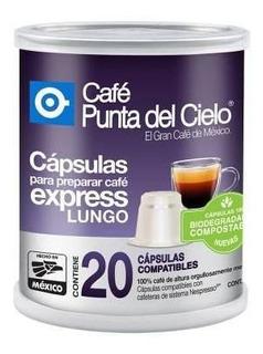Punta Del Cielo Cápsulas De Café Espresso Lungo Lata 20 Cáps