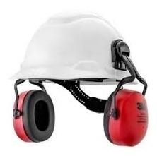 Kit Capacete Segurança Refletivo + Abafador Pomp Muffler 3m