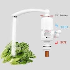 Canilla Calentador Electrico Frio Caliente 3000w Griferia Cocina Baño Monocomando Calefon 220v Completa