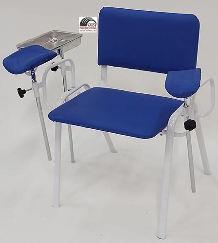 Imagem 1 de 3 de Cadeira De Coleta De Sangue Estofada Royal C/ Bandeja