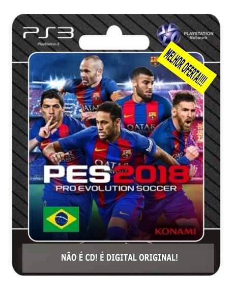 Pro Evolution Soccer 2018 Pes 18 Psn Ps3 Português + Brinde