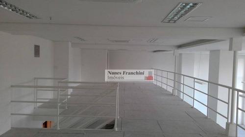 Brooklin-zs/sp - Sala Comercial 264m2, Mezanino, Pé Direito Duplo - Cj0011