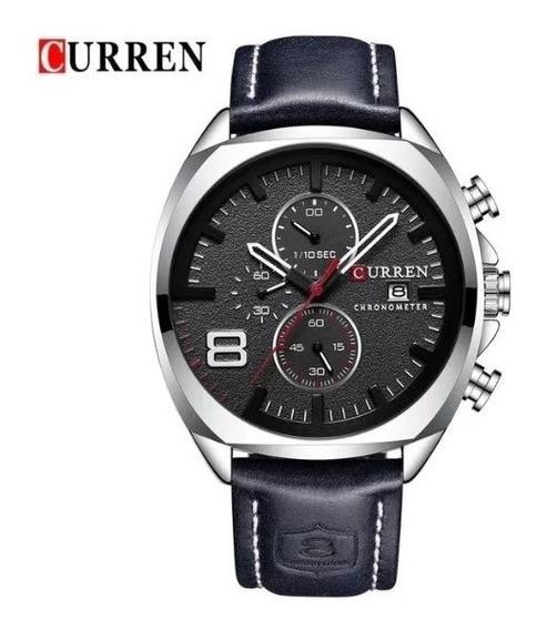 Reloj Curren Analógico Diales Reales Original Piel 8324