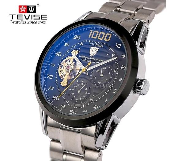 Relógio Tevise 8378 Automático Mecânico Inox Original