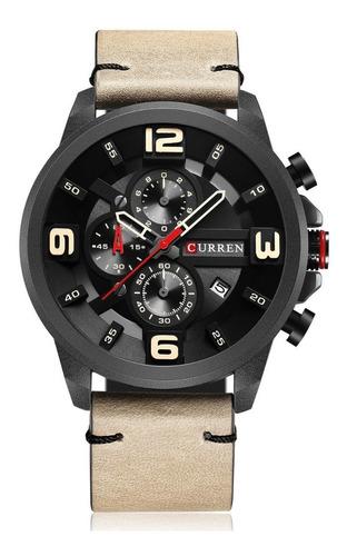 Relógio Masculino Curren 8288 Pulseira Couro Original