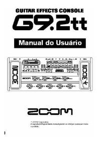 Manual Pedaleira Zoom G9.2tt Em Português