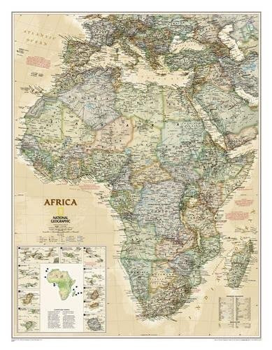 Mapa : National Geographic Africa Executive Wall Map -...