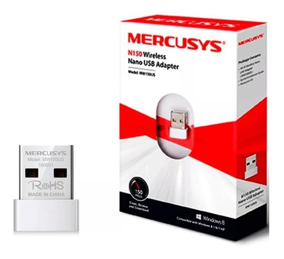 Adaptador De Red Mercusys Usb Wifi Mw150us Nano N150mbps