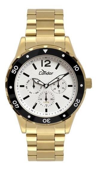 Relógio Condor Masculino Traveller Dourado Co6p29ip/4b