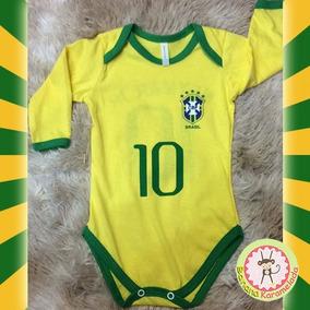 Body Infantil Seleção Brasileira Camisa 10 Neymar Copa 2018