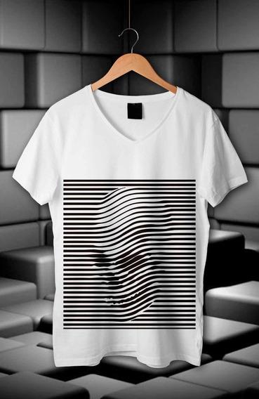 Camiseta Efecto 3d En Vinil Negro O Blanco 100% Algodon