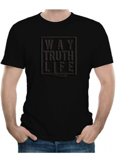 Playeras Cristianas Way Truth Life Emboss Xtomorfosis