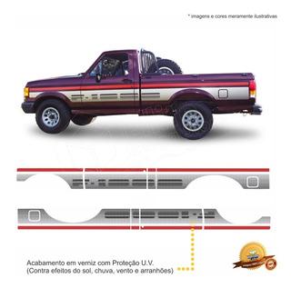 Kit Faixas/adesivos Ford F1000 1993 Super Série Simples