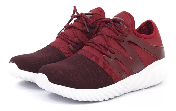 Zapatillas Hombre Running Elastizada Gummi Mega Rojo