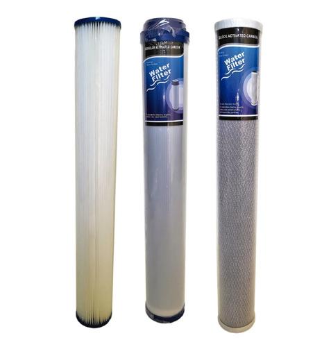 Kit X3 Membranas Slim Filtro De Agua Plisada Bloque Granular