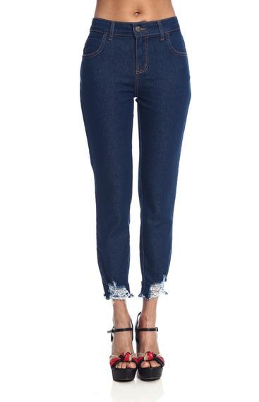 Calça Jeans Be Red Cigarrete Skinny Barra Desfiada 21200508
