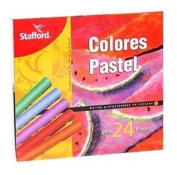 Gis Pastel Seco Stafford 24 Colores Papelería Arte Dibujo