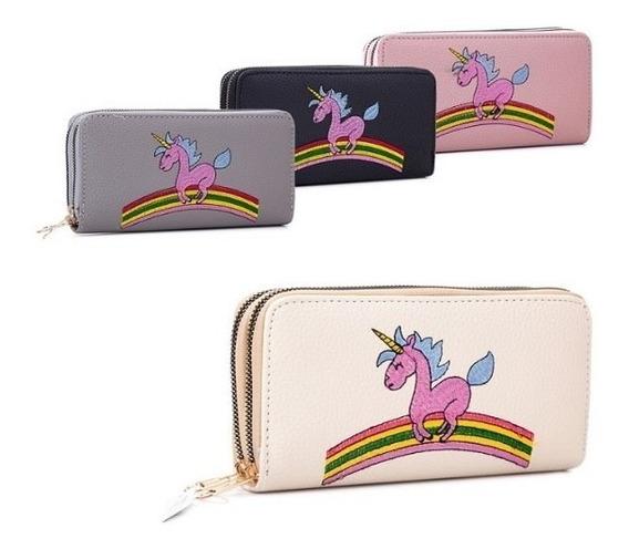 Billetera Doble Unicornio La Chapelle 34se2215 Mapleweb
