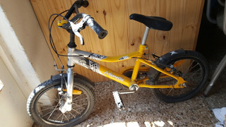 Bicicleta Musetta Rodado 16 Usada Color Amarillo