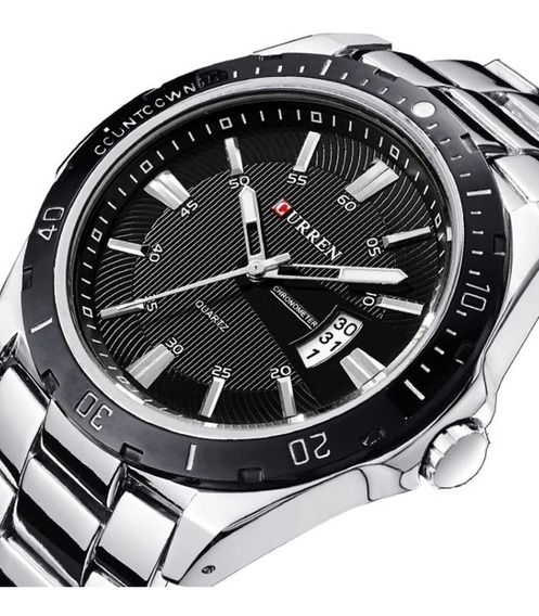 Relógio Masculino Curren 8110 Original Com Calendário