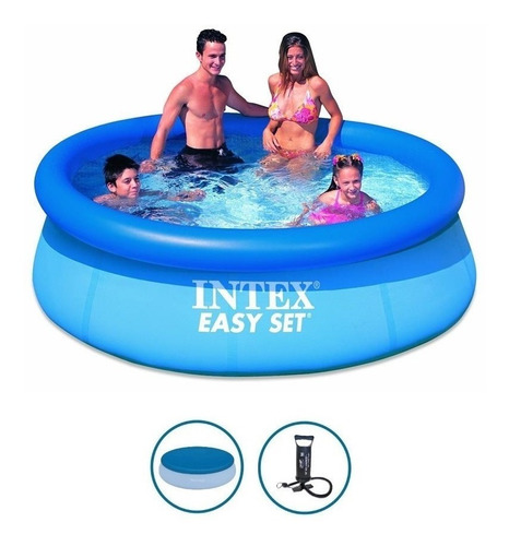 Pileta De Lona Intex 244x76 + Cobertor + Inflador Gratis
