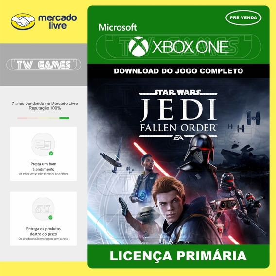 Pré Venda Star Wars Fallen Order Digital Primária Xbox One